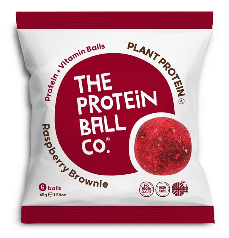 The Protein Ball Co Raspberry Brownie Protein Ball 45g 45g