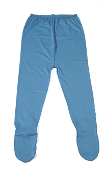 imuDERM Baby leggings with feet Blue