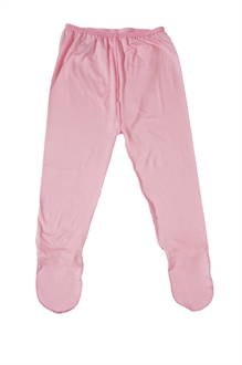 imuDERM Baby leggings with feet Pink