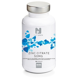 Nutrapure Zinc Citrate 15mg 120 Tablets