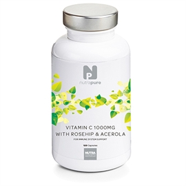 Nutrapure Vitamin C 1000mg with Rosehip & Acerola