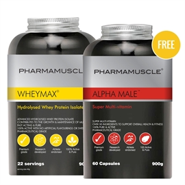 WheyMax & FREE Alpha Male Super Multi-Vitamin