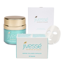 Jivesse Gold Collagen Face Masks Cream & Capsules